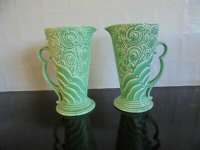 Pair Wade Art Deco jugs  - postage available.