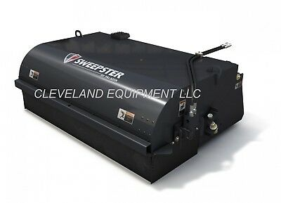 """84"""" SWEEPSTER PICK UP BROOM ATTACHMENT Skid Steer Loader Collector Box Bucket 7'"""