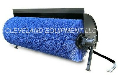 """NEW 84"""" HYDRAULIC ANGLE BROOM Skid Steer Attachment Power Sweeper Holland Daewoo"""