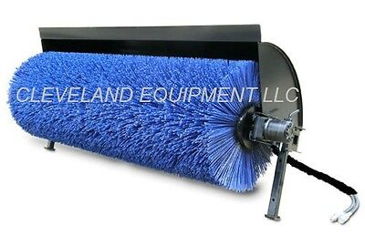 """84"""" HYDRAULIC ANGLE BROOM Skid Steer Attachment Power Sweeper Case Gehl Takeuchi"""