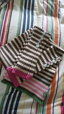 Joules Scarf & Gloves Matching Set