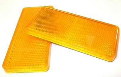 Amber Reflectors. Self adhesive. 99mm x 44mm. Trailer. 1 Pair. *Top Quality!
