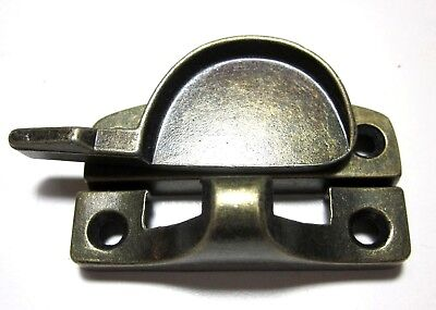 1 Vintage National N187 Window Crescent Sash Lock Dark Brass: Holes=1-13/16""