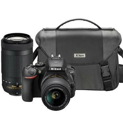 Nikon D5600 24.2MP DSLR Camera with Nikon 18-55mm + 70-300mm Lens + Camera Case