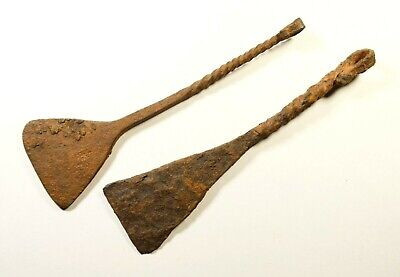 Large Ancient Roman legionary iron scrapers for cleaning boots and clothes