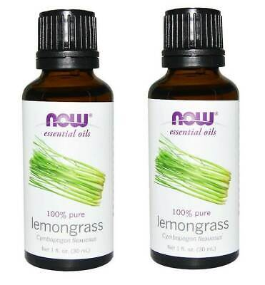 Now Foods - Essential Oils, Lemongrass, 1 fl oz (30 ml) - 2 Packs