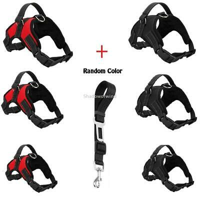 Pet Harness Vest Adjustable Reflective Nylon Non Pull for Medium Large Dogs