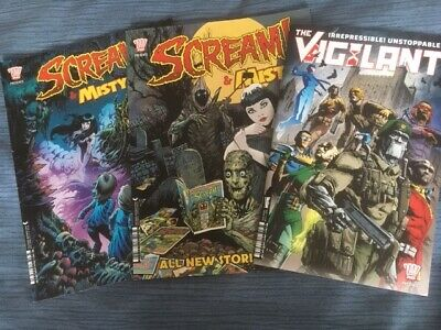 2000Ad Specials 2 X Misty / Scream & The Vigilant Special Ex Cond Judge Dredd