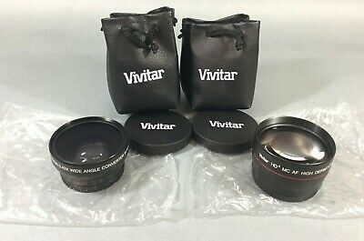 Lot 2 Vivitar HD4 MC AF High Definition 2.2x .43x Telephoto Converter Lens Japan