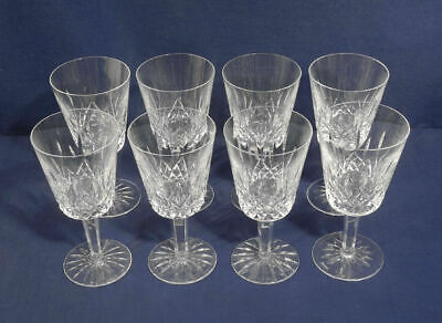 """Set of 8 - Waterford Crystal Lismore Water Goblets Glasses - 7"""" x 3-1/2"""", MINT"""
