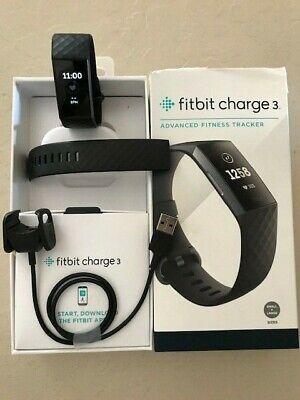 Fitbit Charge 3 Fitness Tracker - Black/Graphite Aluminum, Excellent!!