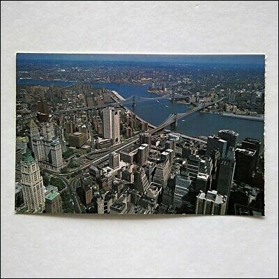 New YorkCity View East River From World Trade Center Gray Line Postcard (P415)