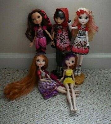 Ever After High 5 doll lot Holly Poppy O'Hair Briar Beauty Apple White Cerise