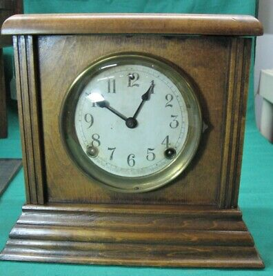 Antique SESSIONS WOODEN MANTLE CLOCK CHIMES RUNS GREAT; Circa 1910