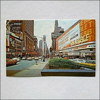 Times Square New York City The New Allied Chemical Tower Bldg Postcard (P415)