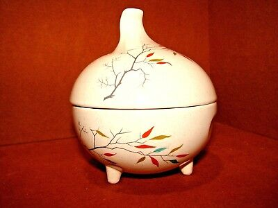 Rare Antique Salem China South Wind Sugar Bowl Footed Free Form Tree Branch Toed