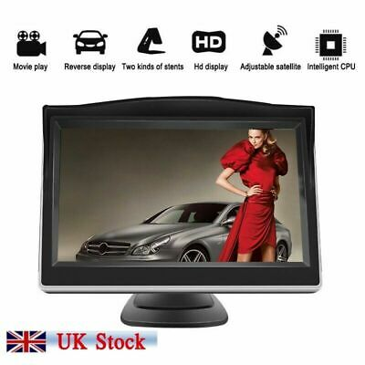 "Car Reversing Camera Kit Rear View LCD Monitor 5"" +HD Waterproof UK"