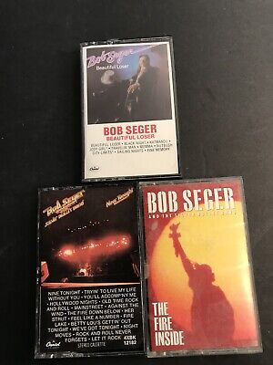 Bob Seger Beautiful Loser 3 Cassette Tape LOT