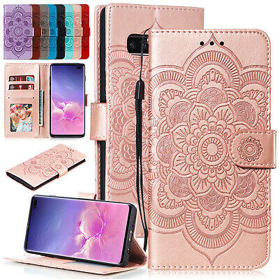 For Samsung Galaxy S10 Plus Note 9 A8 J4 A50 Case Leather Card Wallet Flip Cover