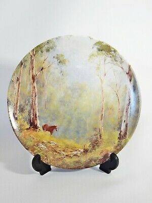 Bradex Bendigo Pottery The Lone Brumby Collector Cabinet Plate Living Landscapes