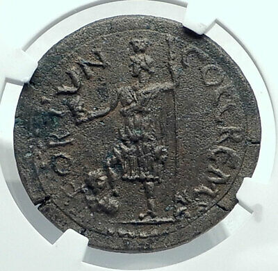 AURELIAN Authentic Ancient 270AD CREMNA PISIDIA Rare Roman Coin TYCHE NGC i78672