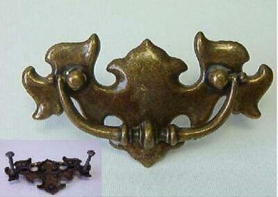 Antique Drawer Pull CP 1967 Canada Chippendale Solid Brass