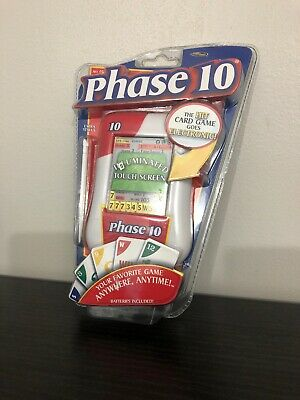 Phase 10 Electronic Card Handheld Game Illuminated Touch Screen Brand New Sealed