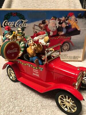 Vintage Coca-Cola Coke 1998 Holiday Touring Car with Santa and the Elves