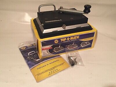 TOPTOP-O-MATIC 100mm King Size CIGARETTE ROLLING MACHINE Heavy Duty $55 New!!!
