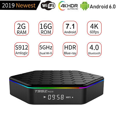 T95Z PLUS 2GB+16GB Smart TV Box Octa Core Android 7 1 Dual