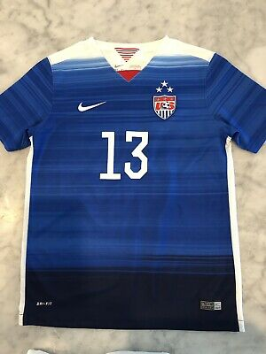 huge discount fcf99 aad78 13 ALEX MORGAN Nike 2016 2017 USA USWNT WOMEN Home SOCCER ...