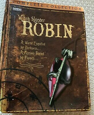 Witch Hunter Robin - The Complete Collection (DVD, 2004, 6-Disc Set) w/ Pins