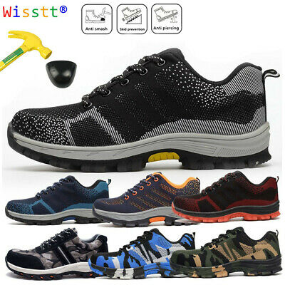 Indestructible Bulletproof Sneakers Men's Camo Work Shoes Safety Steel Toe Boots