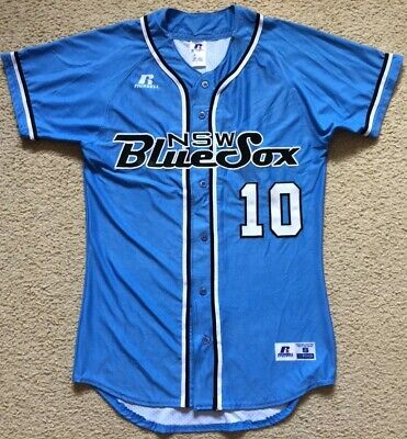 NEW - #10 NSW Blue Sox Australia Baseball League Jersey - Mens Size S Small