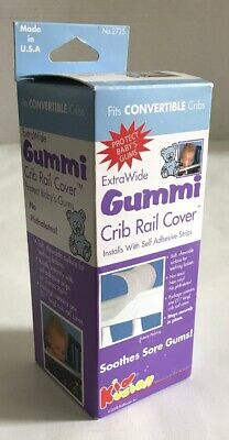 Gummi Crib Rail Cover Kidkusion Extra Wide Clear BPA Free - for gums / teething