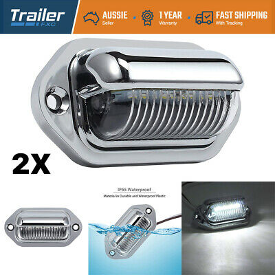 2X Led License Number Plate Light Lamp Truck Caravan Trailer Boat 10-30V Van Ute