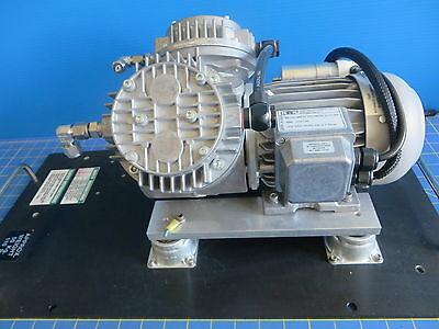 KNF Neuberger MPU 730-N035.0-12.94 Vacuum Pump on Mounting Plate - 208V 2A