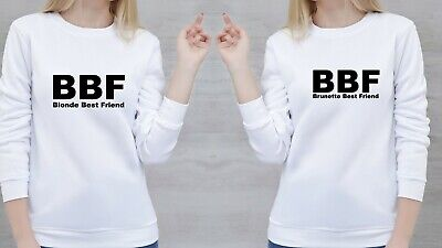 Best Friends Forever Blonde and Brunette Couple Matching Hoodie Tee Shirts Funny