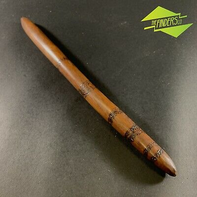 Sensational Genuine Indigenous Aboriginal Digging Stick Pokerwork Artefact
