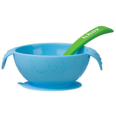 b.box Silicone Bowl & Spoon Ocean Breeze
