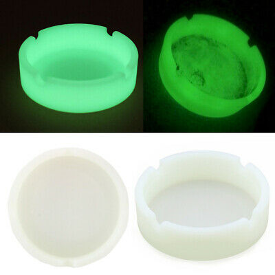 Tap Tray Basic Silicone Round Hot Resistance Ashtray Container -Glow in the Dark