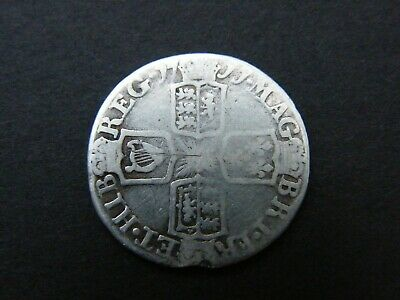 1711 Anne Silver Sixpence Coin