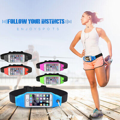 Jogging Waist Bag Elastic Belt Phone Pouch Waterproof Running Outdoor Sport Soft