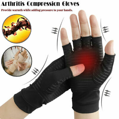 Copper Compression Gloves Arthritis Fit Carpal Tunnel Hand Wrist Brace Support