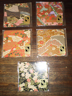 New Set of 5 Vintage Japanese Tea Drink Coasters Unwanted Japan Traditional