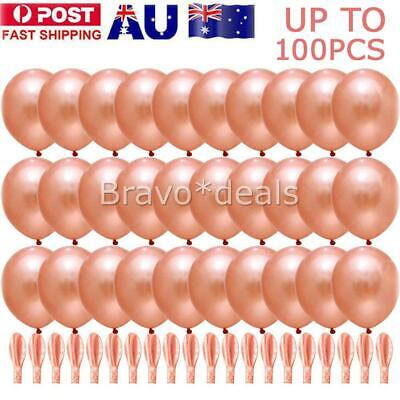 White Rose Gold Party Decoration Balloons Wedding Confetti Marriage Birthday J