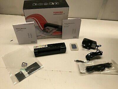 Toshiba Journe Scan Portable Travel Scanner Tested / Working Boxed (yellow AB26)