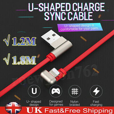 180 Degree Fast Sync USB Wire Charge Lightning Cord Data Cable For iPhone iPad