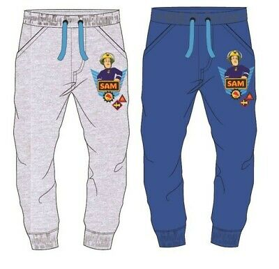 New Official Fireman Sam Boys Joggers Trousers - Sizes 3-9 Years
