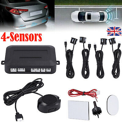 Car Parking Sensors Kit Reversing Detector 4 Sensor Audio Buzzer Alarm Universal